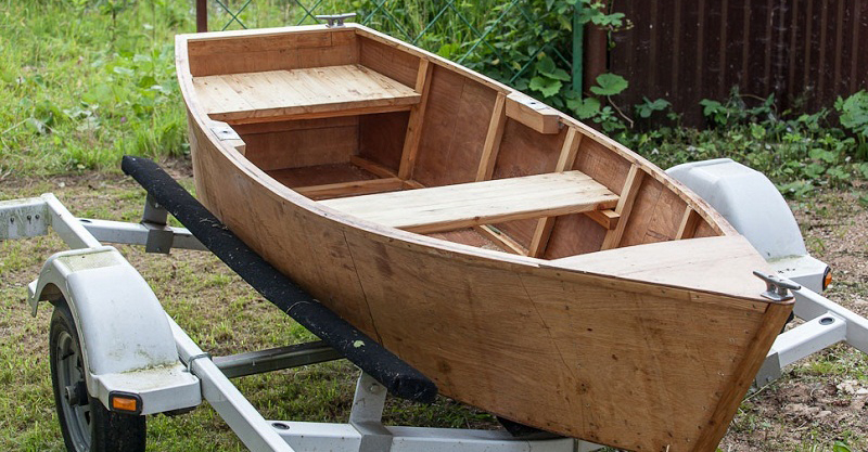 Drawing of a wooden boat  How to make a boat out of plywood